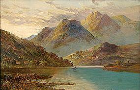 F.E. Jamieson painting of Scottish Loch