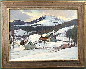 Aldro Hibbard painting - Vermont Valley - Winter
