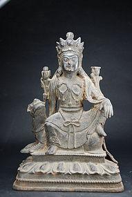Iron Statue of Manjusri, China, Ming Dynasty