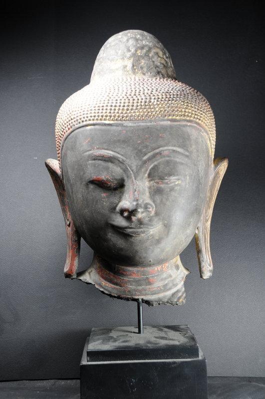 Head of Buddha Burma, Early 19th C.