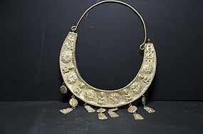 Gilt Silver Buddhist Necklace, 19th C.