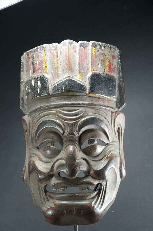 """Nuo"" Theater Mask of Tudigong, China, Early 19th C."