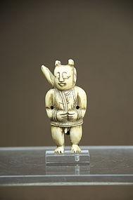 Ivory Fertility Amulet, China, 18th C.