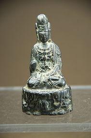 Very Rare Figurine of Kuan Yin, Ca. 6th C.