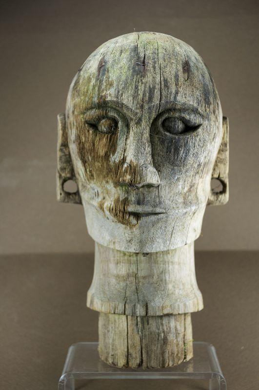 Funeral Effigy Head, Sumatra Isl. Batak Peoples
