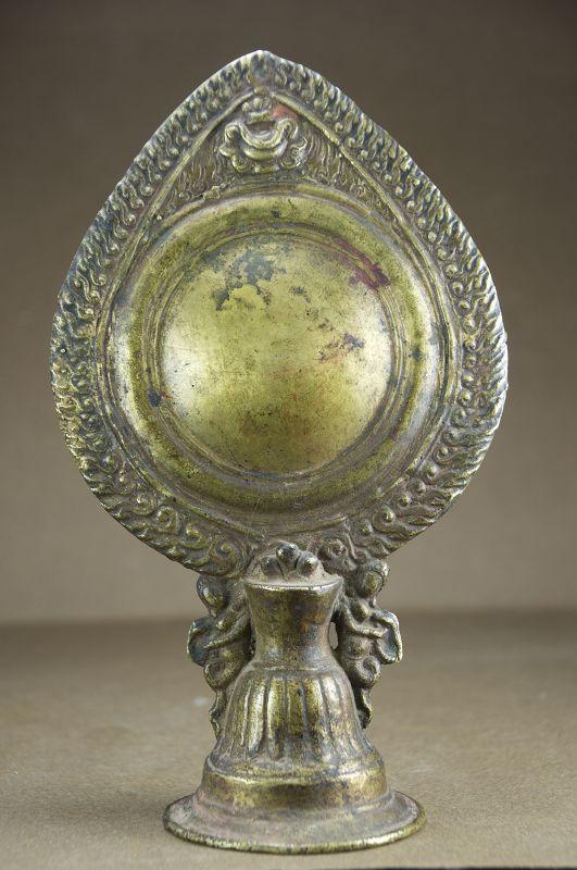Buddhist Mirror, Nepal, 18th C.