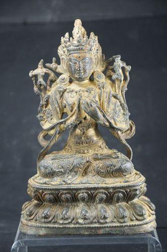 Statue of Bodhisattva Manjusri, Tibet, 19th C.