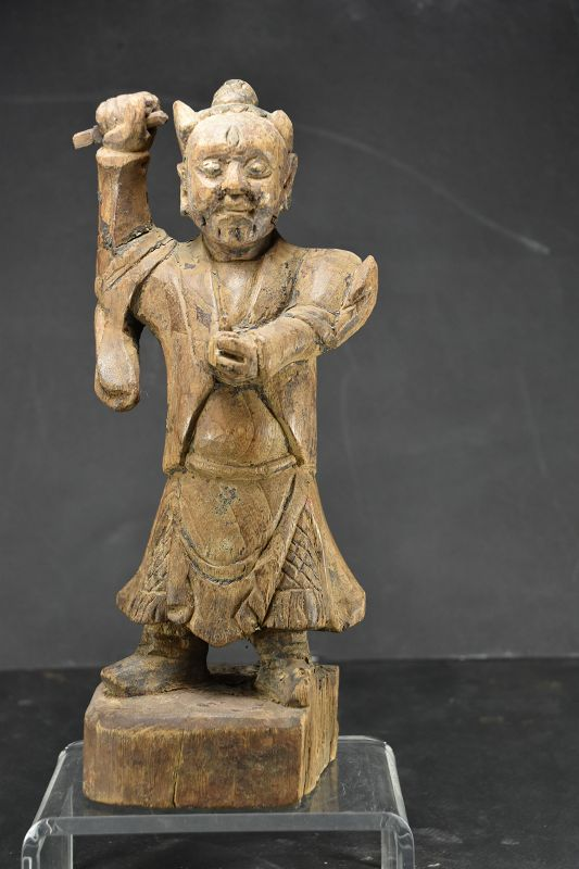 Statue of a Demonic Spirit, China, Qing Dynasty, 18th C.