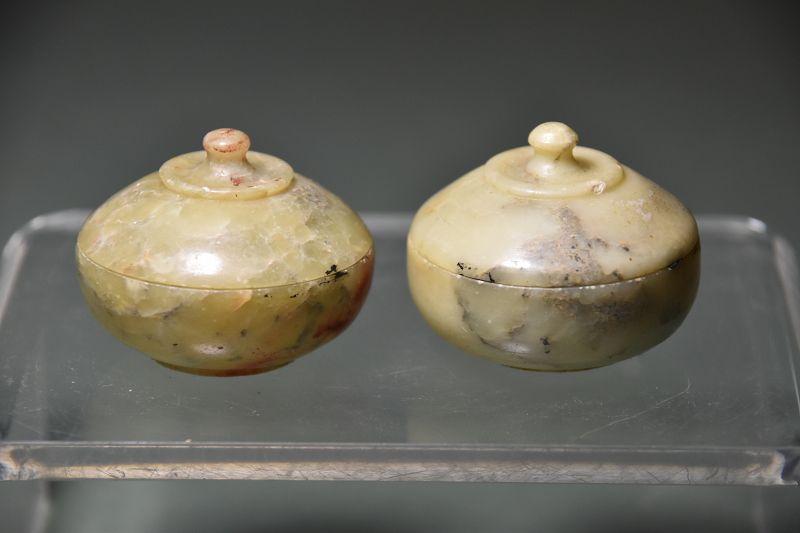 A Pair of Small Jars, Jade, China, Qing Dynasty