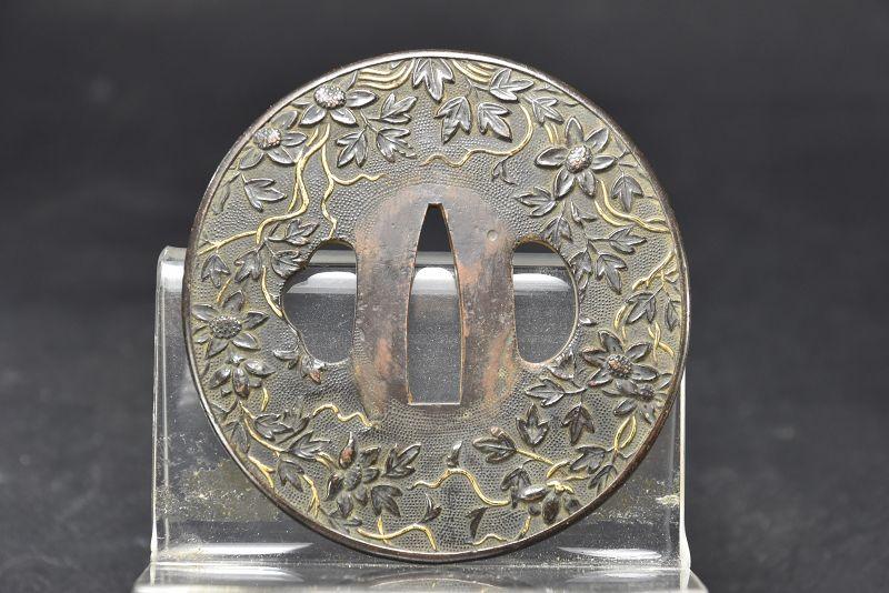 Shakudo Tsuba, Japan, Edo Period