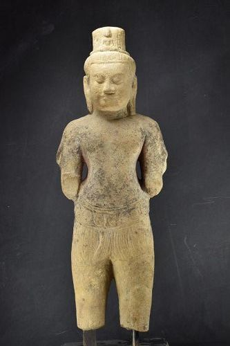 Important Statue of Avalokiteshvara, Cambodia, Khmer, Ca. 13th C.