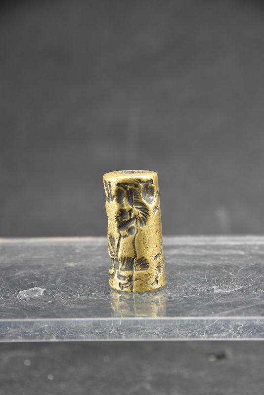 Bronze Cylinder Seal, Bactria, Ca. 4th C. BC