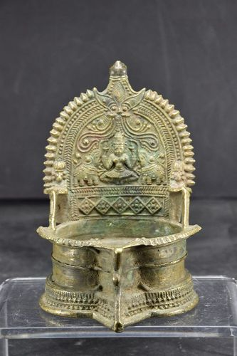Bronze Oil Lamp, India, Early 19th C.