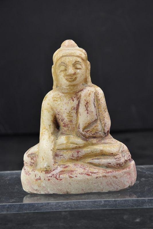 Small Alabaster Statue of Buddha, Burma, 18th C.