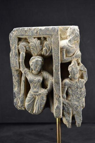 Fragmentary Stone Relief , Gandhara, Ca. 3rd C.