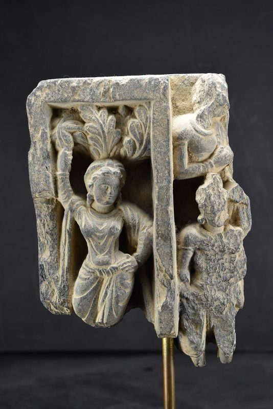 Fragmentary Stone Relief , Gandhara, Ca. 3rd C.