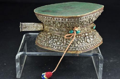 Silver Ritual Drum, Tibet, 19th C.