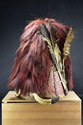 Ceremonial Cane Hat, India, Naga Peoples