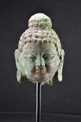 Bronze Head of Buddha, Gandhara, Ca. 3rd Century