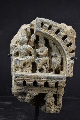 Relief Fragment Gandhara Graeco-Buddhist Art, Ca. 3rd Century