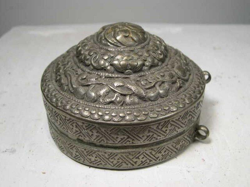 Lime Box 2, Tibet, 18th C.