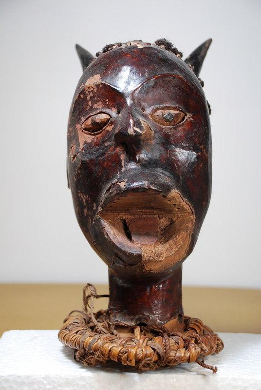 Important Helmet Mask, Ekoi Peoples, early 20th C.
