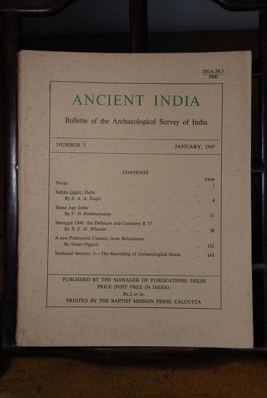 Ancient India Bulletin, No 3, January 1947