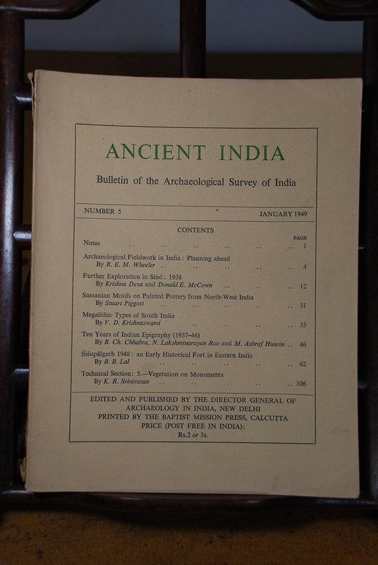 Ancient India Bulletin, No 5, January 1949