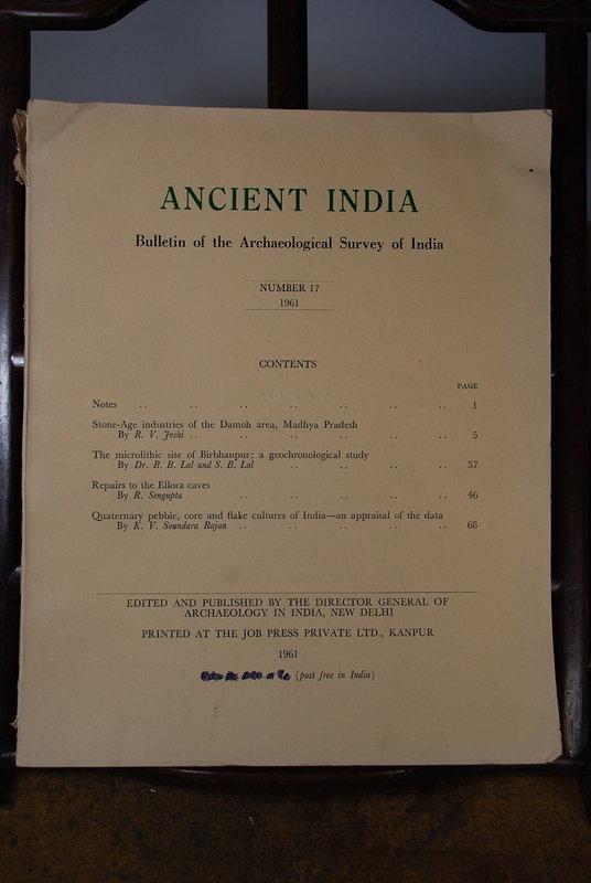Ancient India Bulletin, No 17, Year 1961