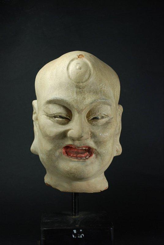 Important Head of a Lohan, China, Ming Dynasty