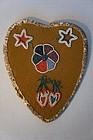 Folk art Native American love token Valentine stars hearts and flower