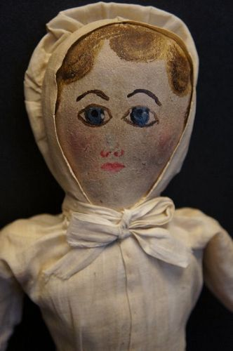 A really nice unusual painted face topsy turvy all orig. circa 1880-90
