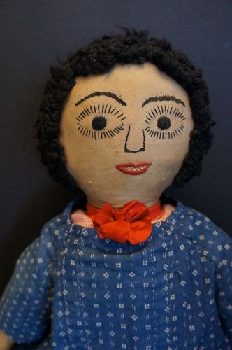"A 22"" beautiful antique cloth doll with personality Circa 1890-1900"
