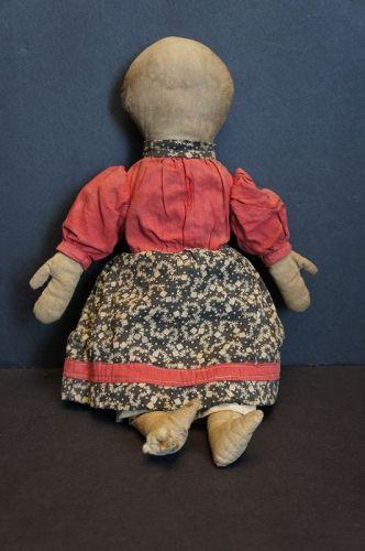 "Wonderful 13"" rag doll hand sewn with big folky mitten hands"