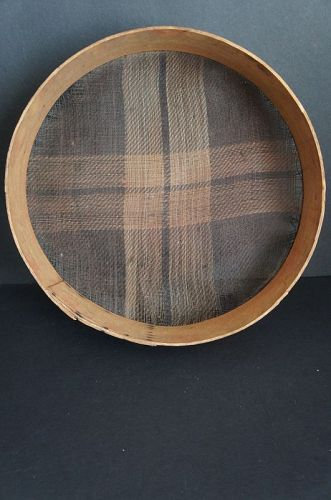 Antique Shaker horsehair sieve with design 1830