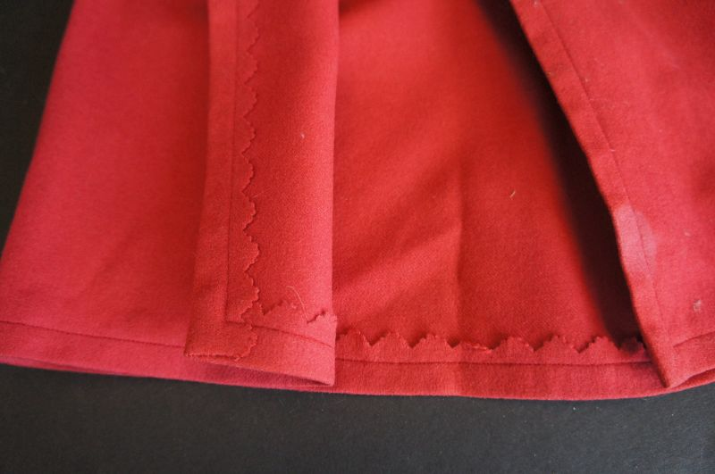 Red Shaker doll cloak in very nice condition 14""