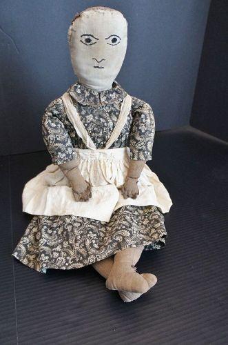 On this subject I won't change my mind,  Great folk art doll C.1880