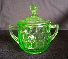 Cube Large Sugar & Lid - Green