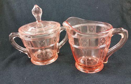 Doric Sugar & Creamer Set - Pink