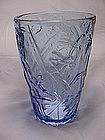 Consolidated Katydid Vase - Blue Crystal