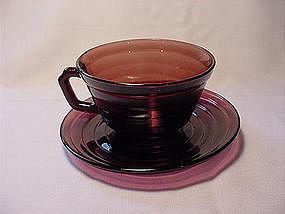 Moderntone Amethyst Cup & Saucer Set