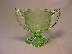 Horseshoe Green Sugar Bowl