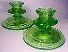 Consolidated Catalonian Emerald Candlesticks