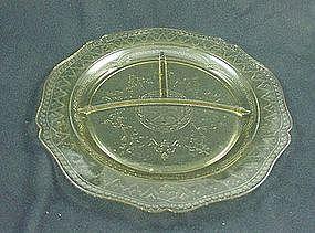 Patrician Spoke Grill Plate - Amber