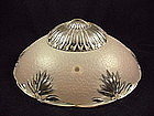 Bead Chain Ceiling Shade & Fixture - Pink Sunburst Edge