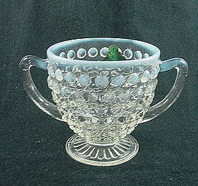 Moonstone Sugar Bowl with Label