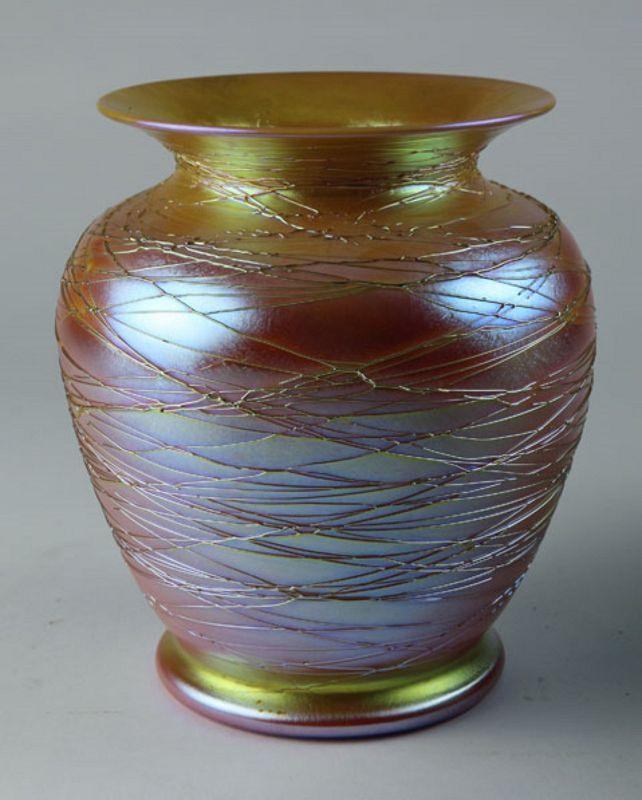 Durand Threaded Lustre Vase
