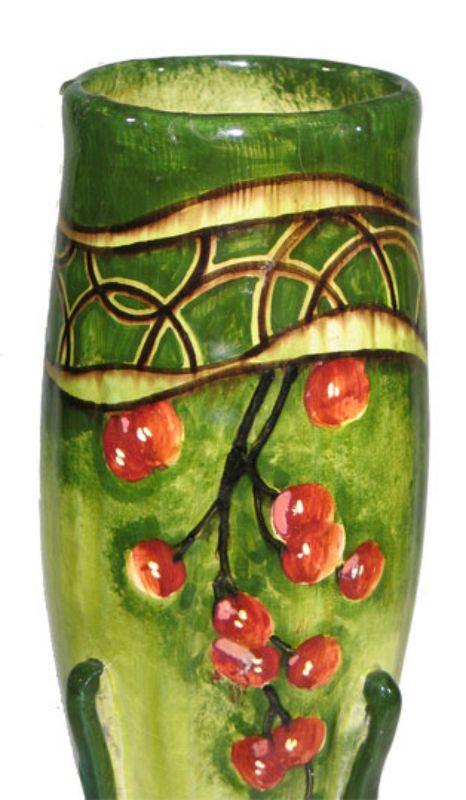 Monumental Turn-Teplitz Amphora Vase
