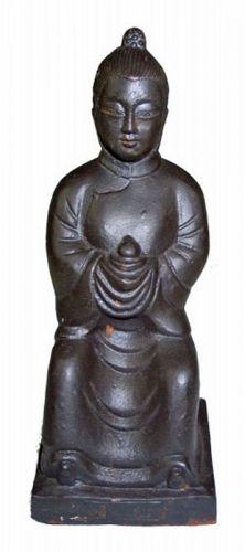 Chinese Cast Iron Scholar or Deity