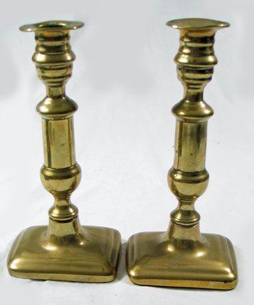Brass Candlestick Pair